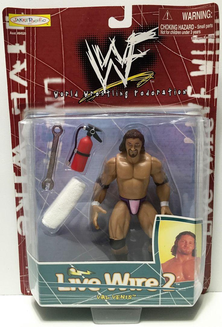 (TAS034946) - 1998 Jakks Pacific WWF Live Wire 2 Series Figure - Val Venis