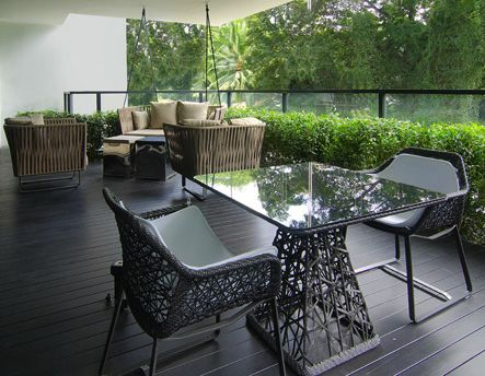 balcony timber decking