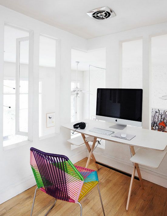 A DANE IN NEWYORK: Offices Desks, Desks Chairs, Lofti Workspaces, Grand Design, Interiors Design, Work Spaces, Cars Girls, White Wall, Home Offices