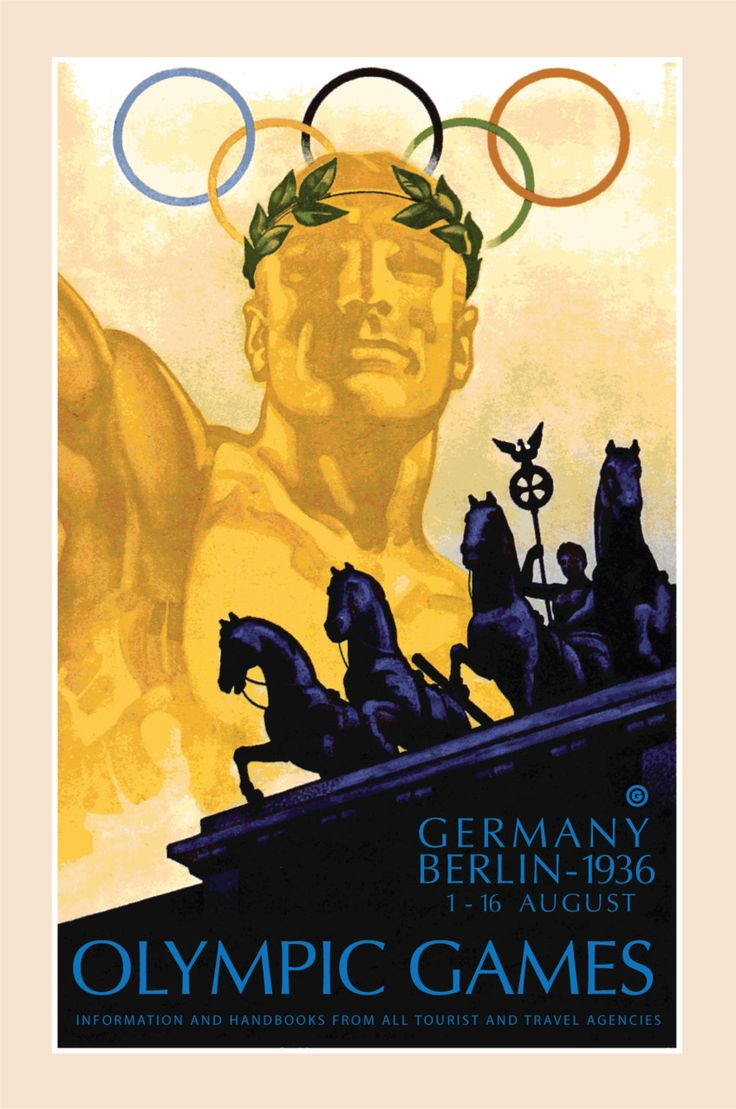 1936-Germany-Berlin-Olympics From a collection of Posters of Olympic Games