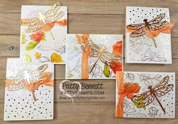 Copper Dragonfly - Springtime Foils metallic cards