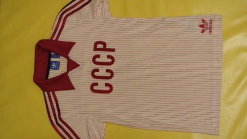 49$ New-Adidas-Originals-Men-039-s-Russia-T-shirt-USSR-Retro-Style-AJ8025-Sz-S-Red #Adidas #AdidasOriginals #T-shirt #Russia #Men #USSR #Retro #SovietStyle #CCCP #Red