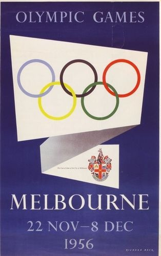 1956 Melbourne Olympic Games - Melbourne has been labelled the most livable city before so why not hold the Olympics again! what an amazing event to work on