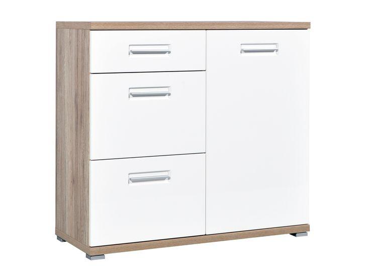 GIRONA Skåp 96 Ek/Vit - Hallmöbler - Förvaring - Inomhus