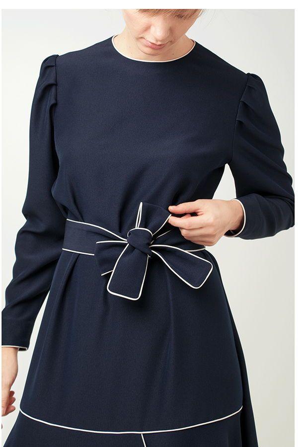Royal Blue Crepe Loose Silhouette Dress Dress Silhouette Dresses Work Wardrobe
