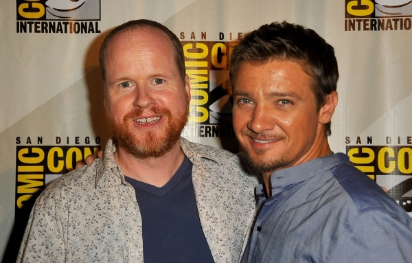 Photo of Joss Whedon & his friend actor  Jeremy Renner -
