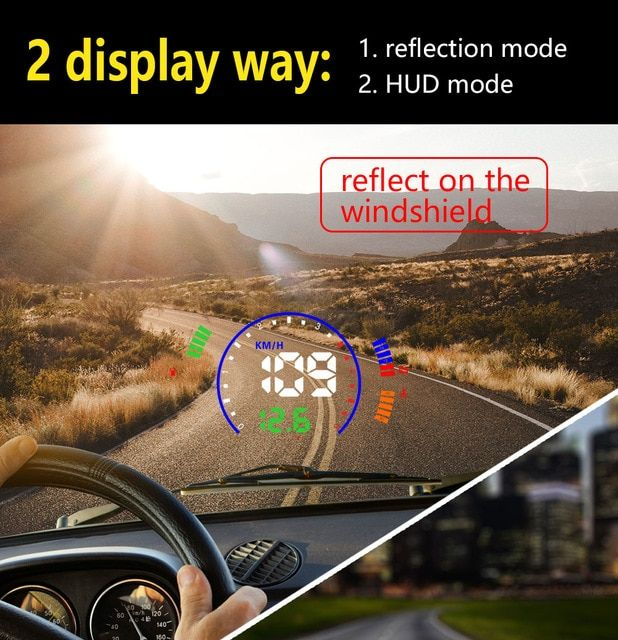 S600 Car HUD Head Up Display OBD2 EUOBD Auto Overspeed