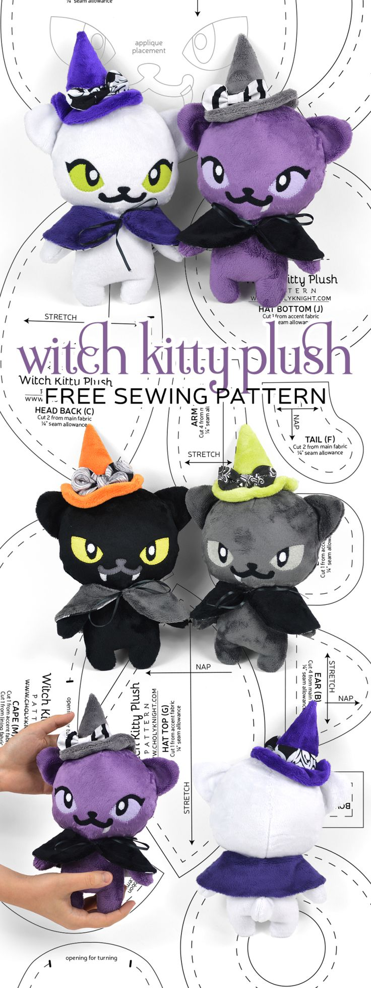 Free Pattern Friday! Witch Kitty Plush | Choly Knight