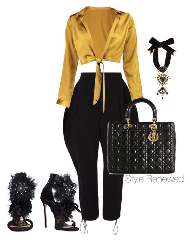 """""""Untitled #408"""" by sherristylz on Polyvore featuring Nina Ricci, Boohoo, Dsquared2 and Christian Dior"""
