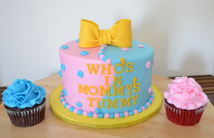 cake!!!!!gender reveal parties ideas | Gender Reveal Baby Shower Cake ...
