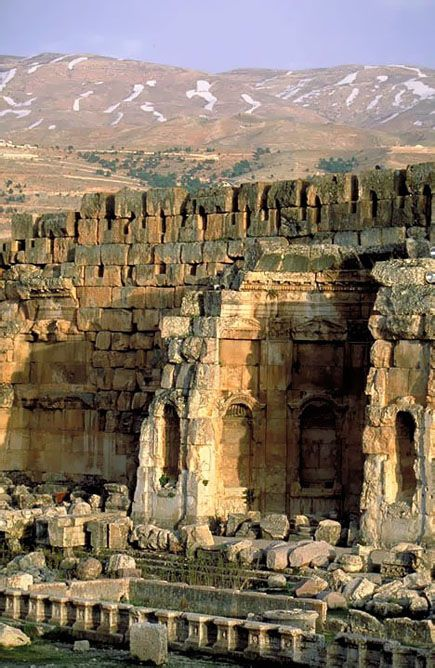 Baalbek in the Beqaa Valley of Lebanon