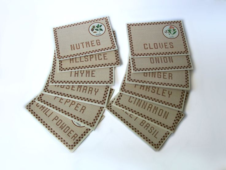 Vintage Spice Herb Recipe Cards French's Glenwood Condor Advertising + BONUS by MargsMostlyVintage on Etsy