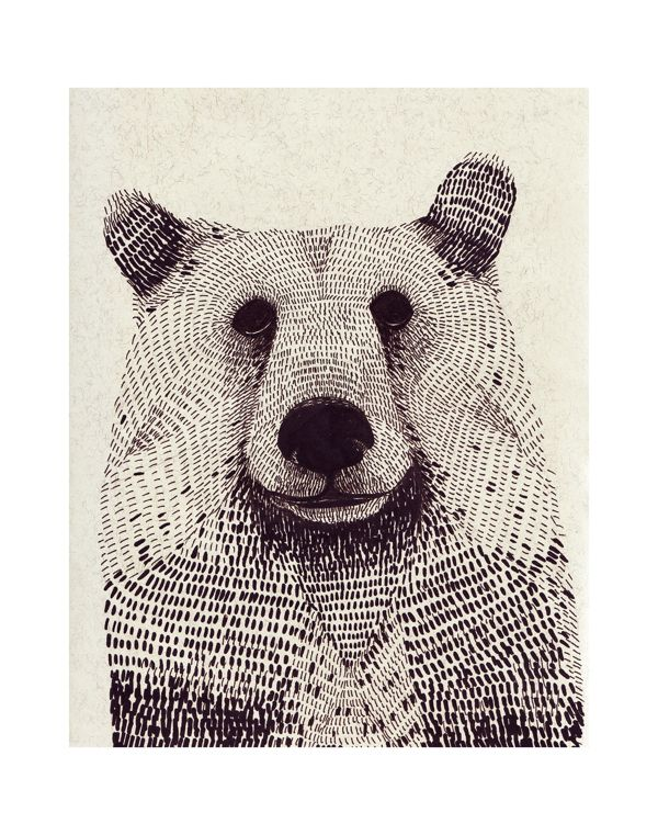 animals by Olga Gamynina, via Behance - mark making