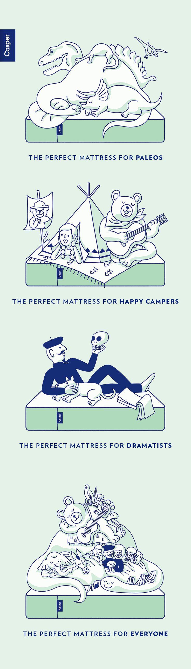 Tomi Um Illustrations, for Casper Created at Red Antler