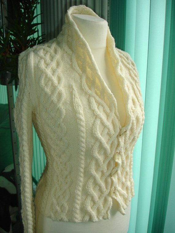 "Benutzerdefinierte verkabelt Knit Cardigan - inspiriert durch den Film ""The Holiday"""