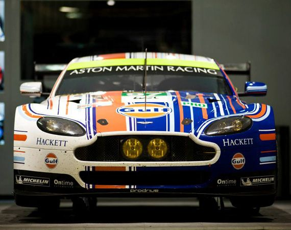 Aston Martin Vantage GTE   New Gulf Oil Racing Livery For 2013 24 Hours of Le Mans