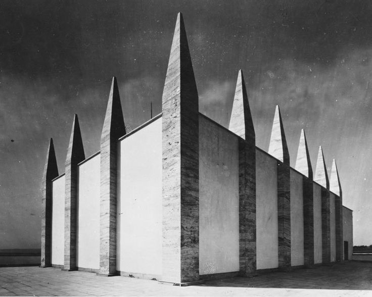City crematorium, Ernst Wiesner, 1925, in Brno,...