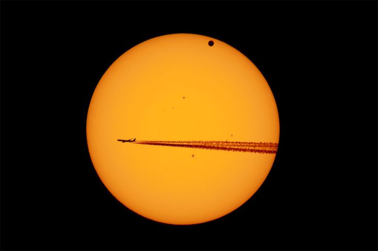 Venus transit and the airplane . . . I remember sitting on our deck one evening with my husband, enjoying the evening sky, and watched a plane pass in front of the moon.  Awesome experience.