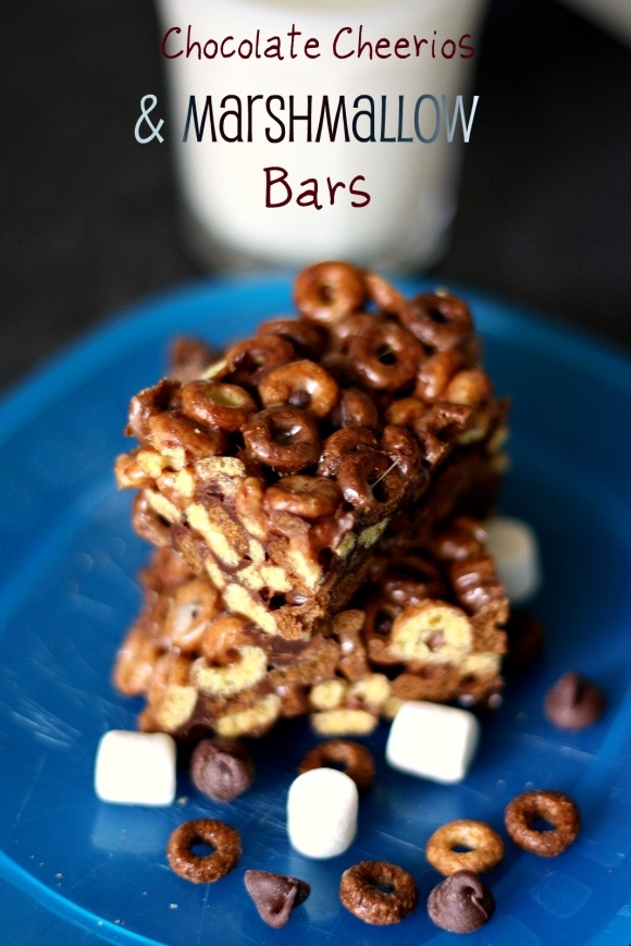 Chocolate Cheerios Marshmallow Bars - Tartine & Maple