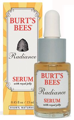 BURT'S BEES Radiance ROYAL JELLY FACIAL SERUM Targets WRINKLES FINE LINES