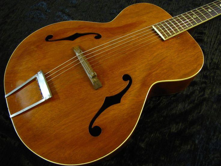 vintage f hole acoustic harmony