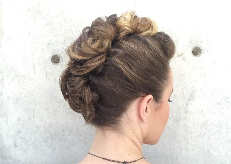 Curly Faux Hawk Hair How-to