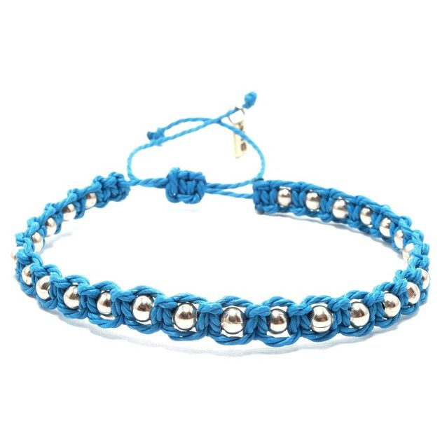 Braided Bracelets – SET- blue and pink – a unique product by SheAndHe on DaWanda