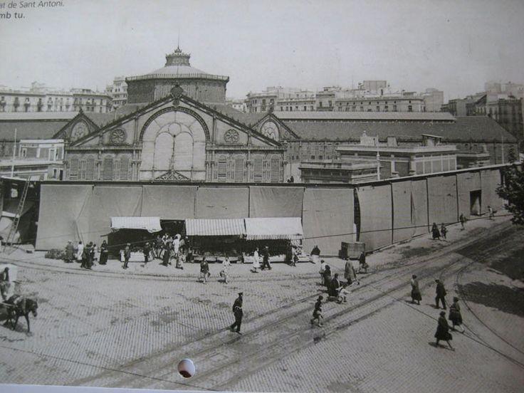 El Mercat de Sant Antoni hacia 1920. Barcelona