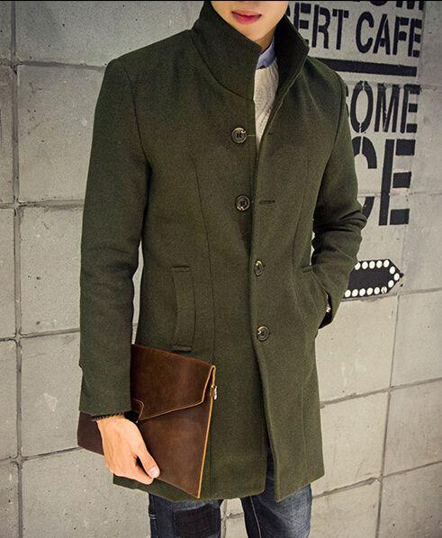 Popular Green Trench Coat Men-Buy Cheap Green Trench Coat Men lots ...