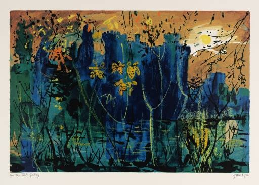 Eastnor Castle, 1983 - by John Piper. I've often tried to capture moments like this on camera, but it never works. It needs a proper artist, and paint. (From the Tate collection)
