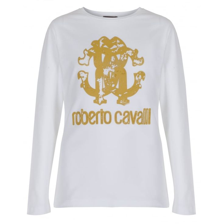 Roberto Cavalli Junior Boys White Long Sleeved T-Shirt New Childrenswear Autumn/Winter