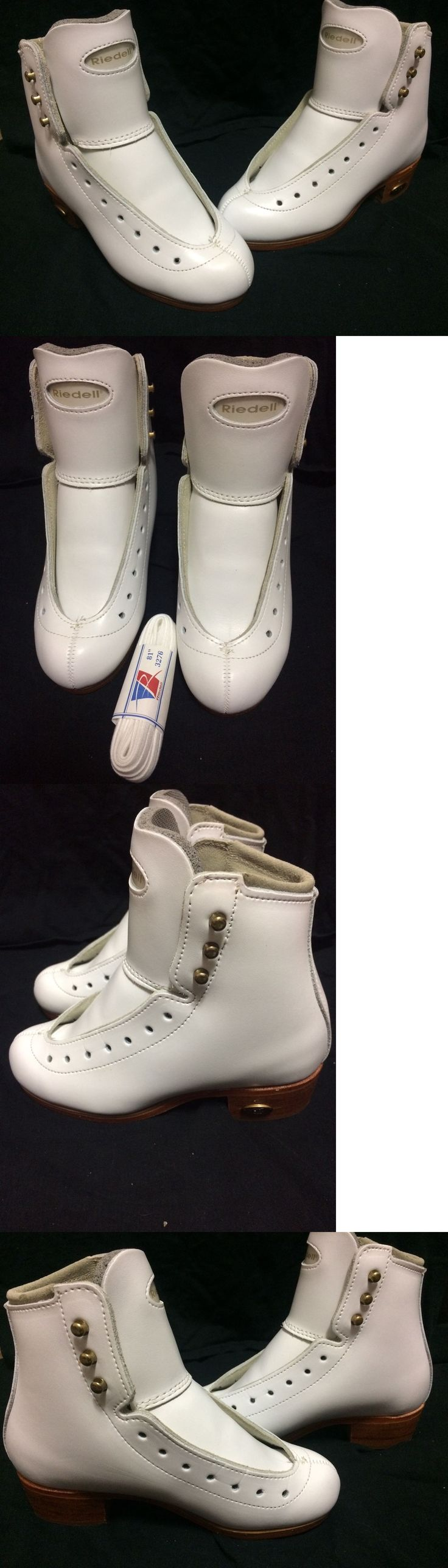 Women 21227: Riedell Ice Figure Skate Boots Model J32 Sizes 1, 1 1 2, 2, 2 1 2, 3 1 2 -> BUY IT NOW ONLY: $84 on eBay!