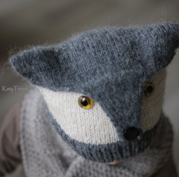 Knitting Patterns For Forest Animals : Knitting Pattern FOXY & WOLFIE