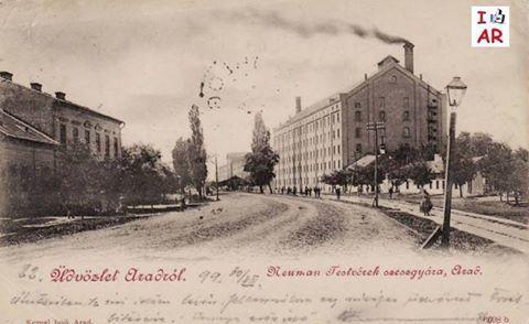 Arad - Fabrica fratilor Neuman la inceputul secolului