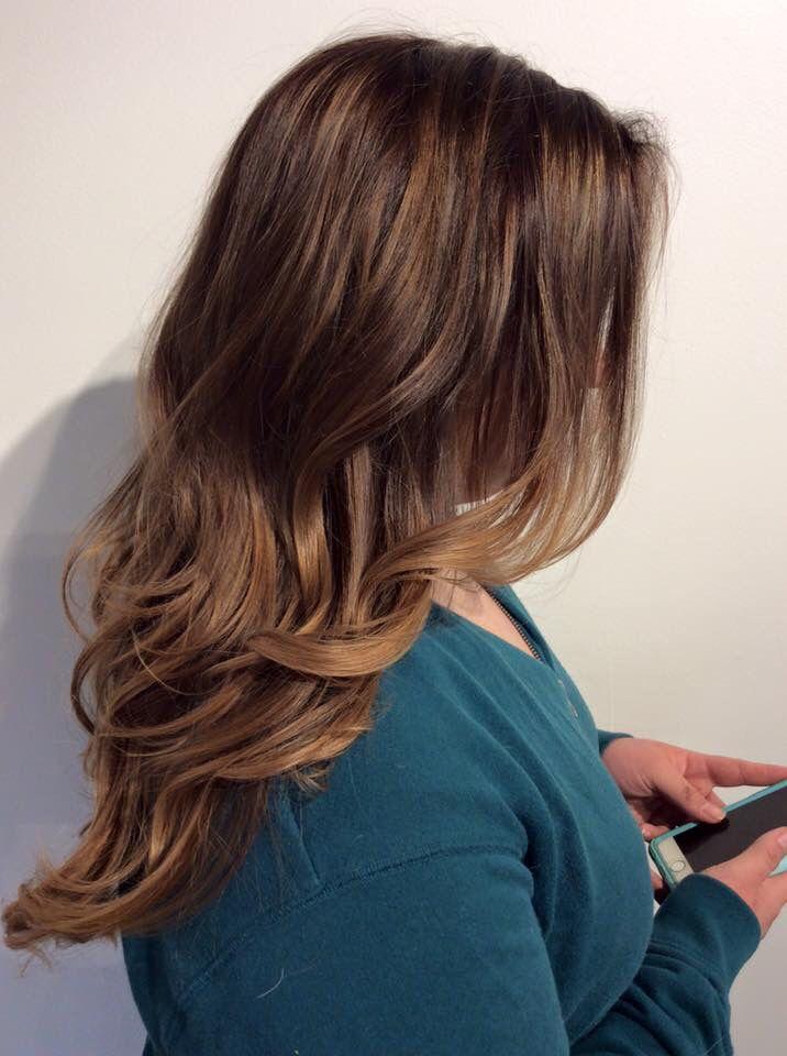 Caramel balayage. Balayage. Brunette balayage. Fall hair. Summer hair. Light brown balayage. Hair by Mallory at B Young Salon Wichita KS