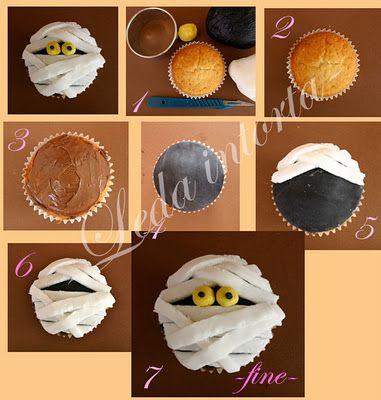 Tutorial cupcake di halloween.