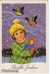 kortti ** Rudolf Koivu Tyttö nukkeineen ulkona - 1.25 € - Signeeratut taiteilijakortit - Postikortit - Keräily - Huuto.net - (avoin)