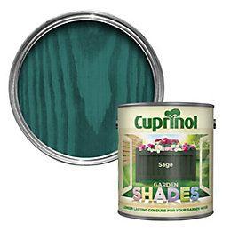Cuprinol Garden Shades Sage Wood Paint 2.5L | Departments | DIY at B&Q