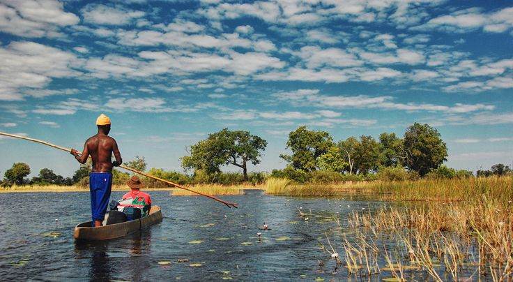 Canoeing in the Okavango Delta