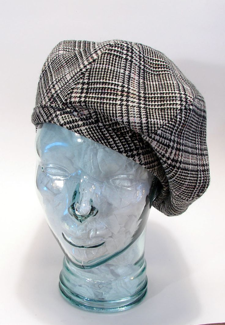 The Bicyclette Beret Hat Ladies Reproduction Retro Winter Slouchy Wool by littlehats on Etsy