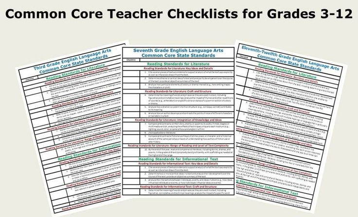 Free ELA Common Core Checklists for grades 3-12