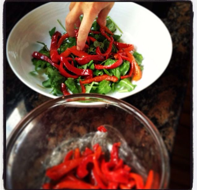 #roastedredpeppers #italian #rocket #salad
