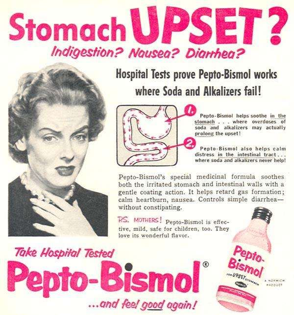 ever wondered why Pepto-Bismol is so effective in moving along your uh…