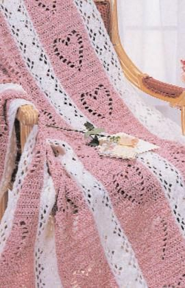 Hearts & Diamonds Crochet Afghan Free Pattern