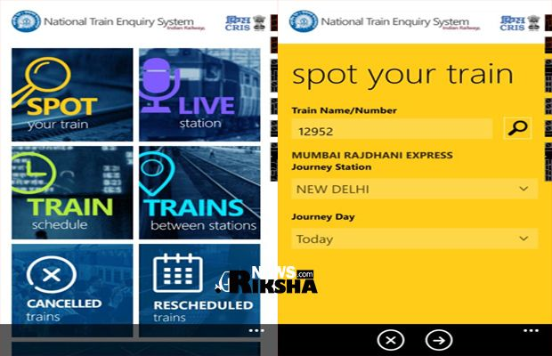 train enquiry app for windows phone launched