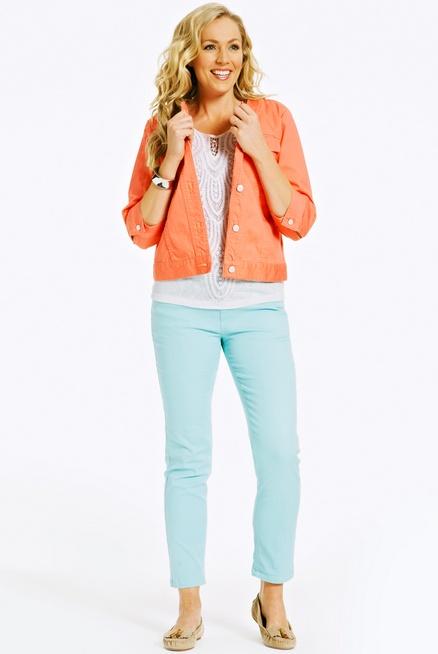 Suzanne Grae cropped coloured jean