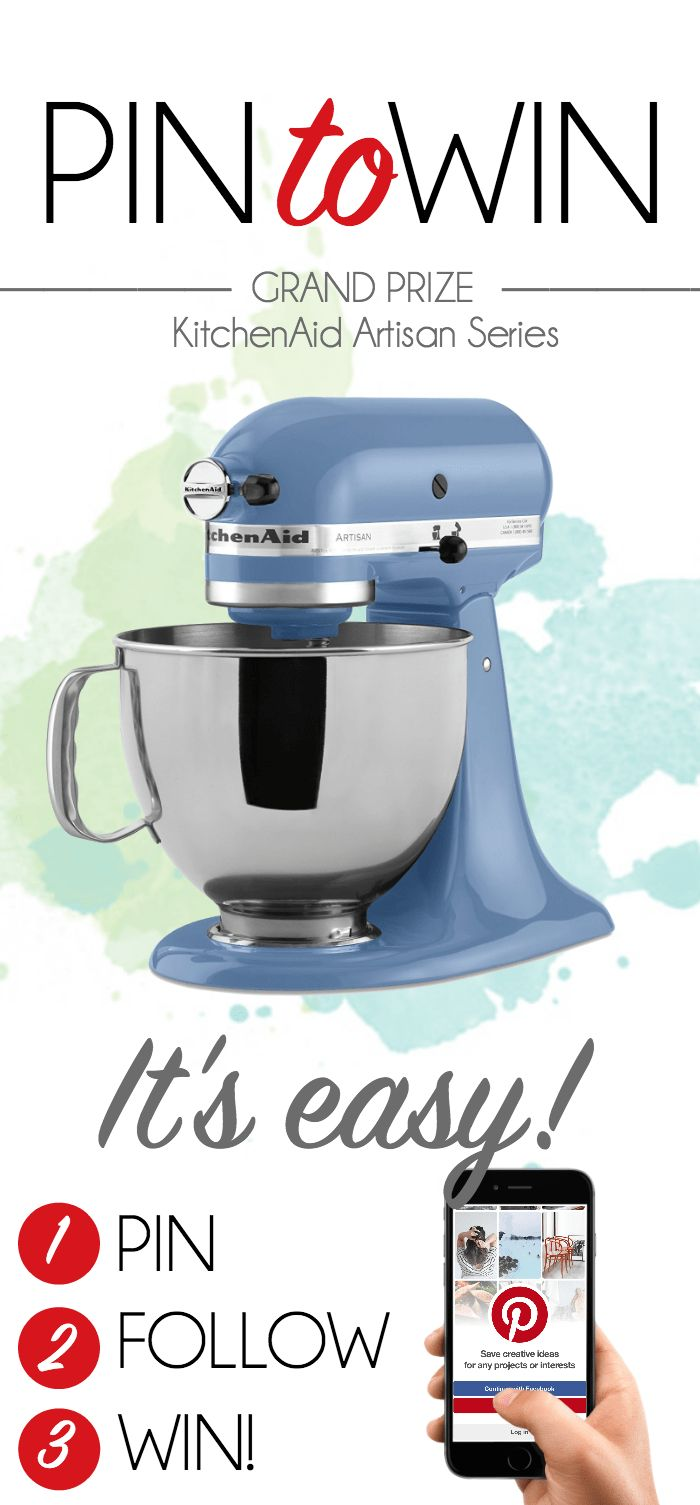 PinterestFacebookTwitterStumbleYummlyEmailDo you want to a KitchenAid Artisan Series mixer? Well, enter below!  I'm joining up with some of my fellow friends today for a fun giveaway. Simply enter below and you could win a KitchenAid Artisan mixer! I have two and they're amazing, so I think you need one! Use the rafflecopter form to …