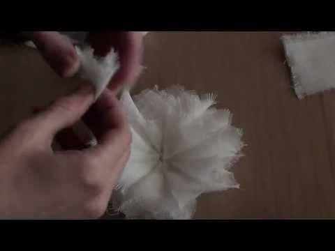 ▶ Shabby Cheescloth Flower Tutorial! - YouTube