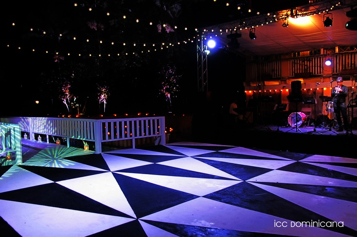 black and white dance floor | ICC EVENTS & WEDDINGS | Pinterest