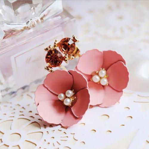 1-Pair-Ear-Stud-Elegant-Hot-Flower-Lady-Women-Charm-Crystal-Rhinestone-Earrings